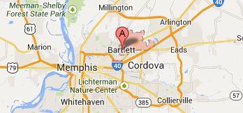 Map of Bartlett TN