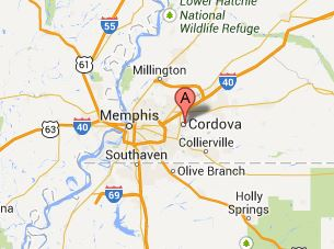 Cordova TN 38016, 38018, 38088 map