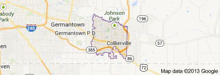 Map of Collierville TN - Shelby County