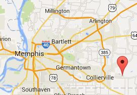 Map of Memphis area including Rossville 38066