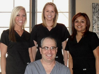 Dr. Terry Hayes and his dental staff
